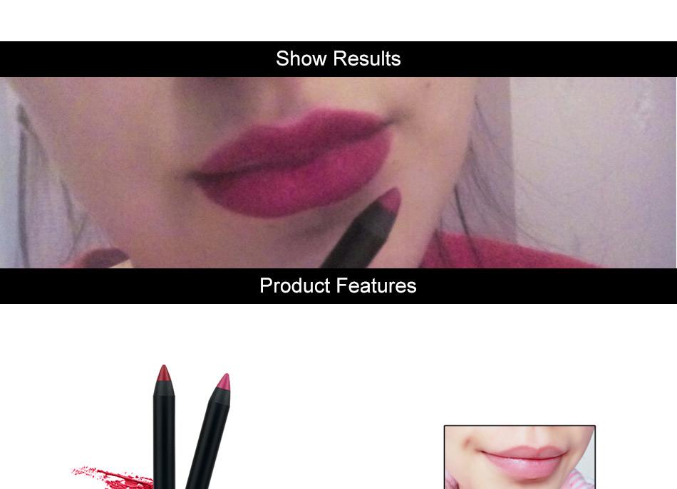 Waterproof Drawing Lip Pen 6 Colors Lip liner Long-lasting Lipstick 1.8g Lips Makeup Brand EFU #7057 7