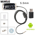 Wimius 5.5mm Lens Android USB Mini Camera Inspection Endoscope LED Waterproof Borescope Tube 2M/5M/7M cable Portable Automotive