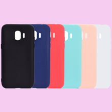 Fashion Candy Colors Soft TPU Case Phone Silicone Cover Shell Coque Fundas Hull for Samsung Galaxy J2 J3 Pro J4 J6 J7 J8 2018