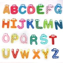 26pcs/set Wooden Cartoon Alphabet ABC~XYZ Magnets