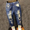 Brand pants trousers fashion girl children jeans boy ripped jeans fashion cowboy pants baby leisure cowboy baby boy