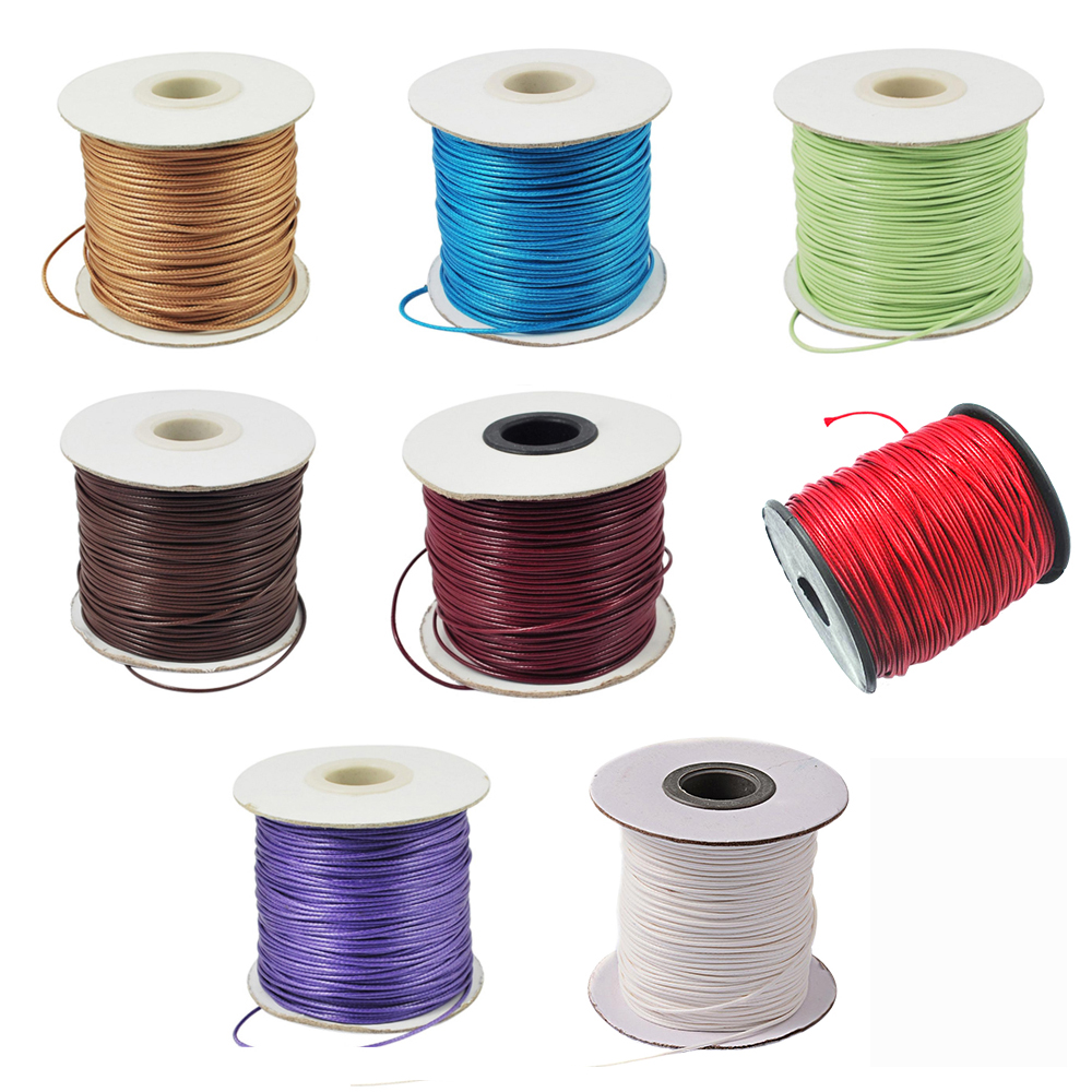 Approx 88yards/roll about 1mm thick Korean Waxed Polyester Cord for Jewelry Maki