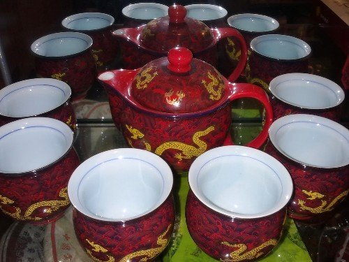 CHINESE PORCELAIN  DRANON  TEA SETS  SHIPPING FREE TEA CUP
