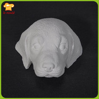 2019 new Labrador 3D dog head aromatherapy diffused stone candle silicone mold high quality