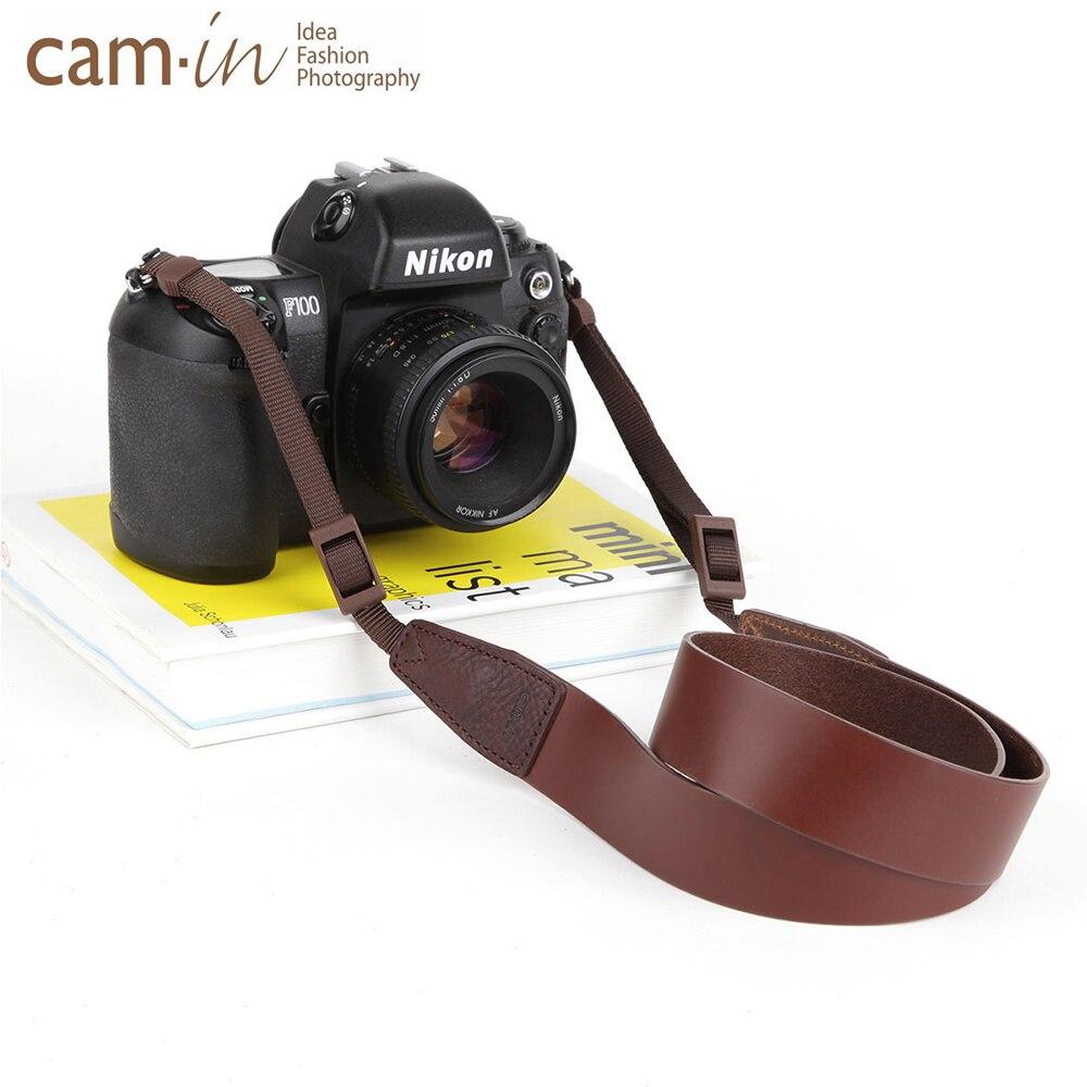 cam in cs182 2240 2248 Italian Cow Leather Universal Camera Strap Neck Shoulder Cowhide Cowskin General Adjustable Belt