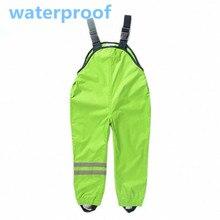 2016 Boys Girls Waterproof Pants New Overalls Kids 2-7yrs Children Autumn Pants German Suspenders Trousers