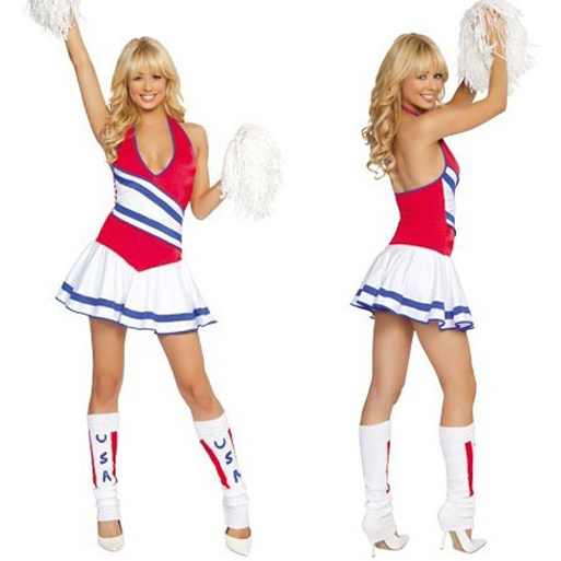 Sexy Cheerleader Costume - Halloween Carnival Costume Womens Cheerleading Uniform Dress Adult Cheer Outfit