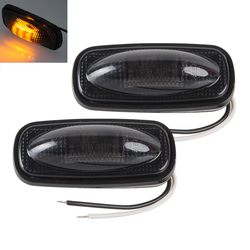 1 Pair 3 LEDs Car Side Marker Lights Clearance Lamp for Truck Pickup Dodge 12V Red Yellow in Signal Lamp from Automobiles Motorcycles