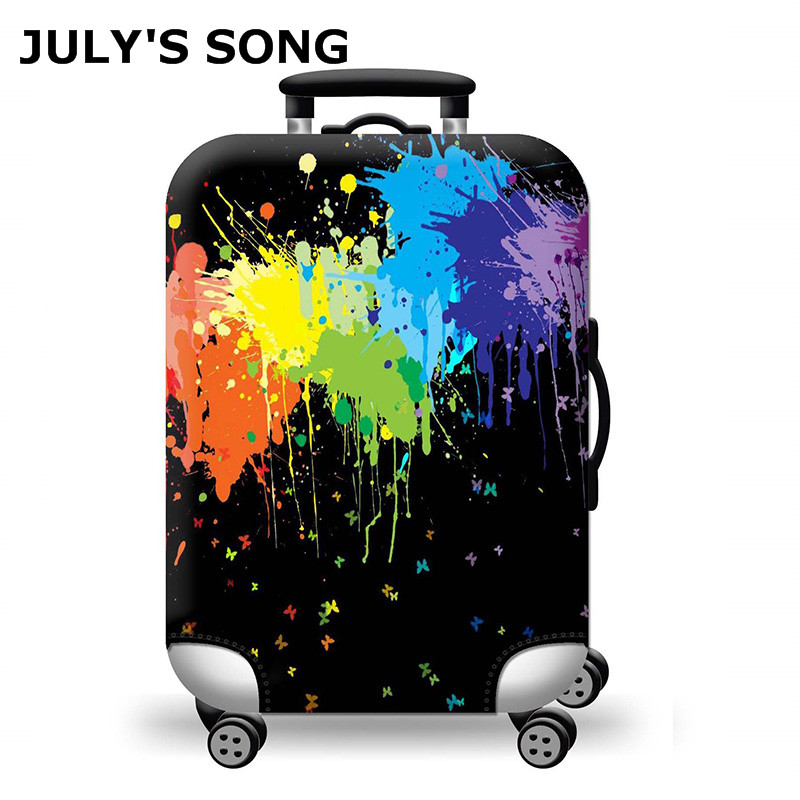 JULY'S SONG Thicken Luggage Cover Cartoon Print Travel Luggage Suitcase Protective Cover For Trunk Case 19-29inch Baggage Covers