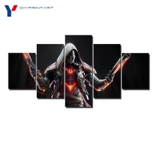 Reaper Overwatch Weapon 5 Pieces Posters and Prints House Decoration Living Room Decoration A0879