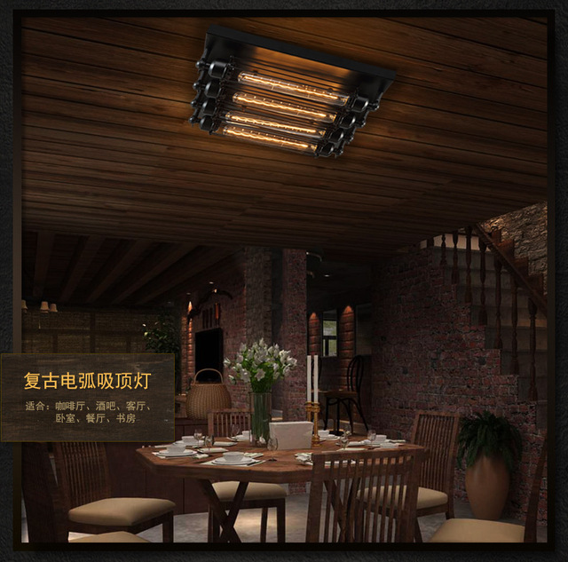 Industrial Ceiling Light Edison Bulb Retro Ceiling Lights Vintage