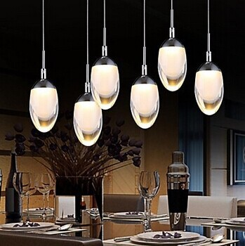 New Design Acrylic Modern LED Pendant Lighting Lamp With 6 Lights For Dining Room Foyer, Lustres E Pendentes De Sala,AC автоинструменты new design autocom cdp 2014 2 3in1 led ds150