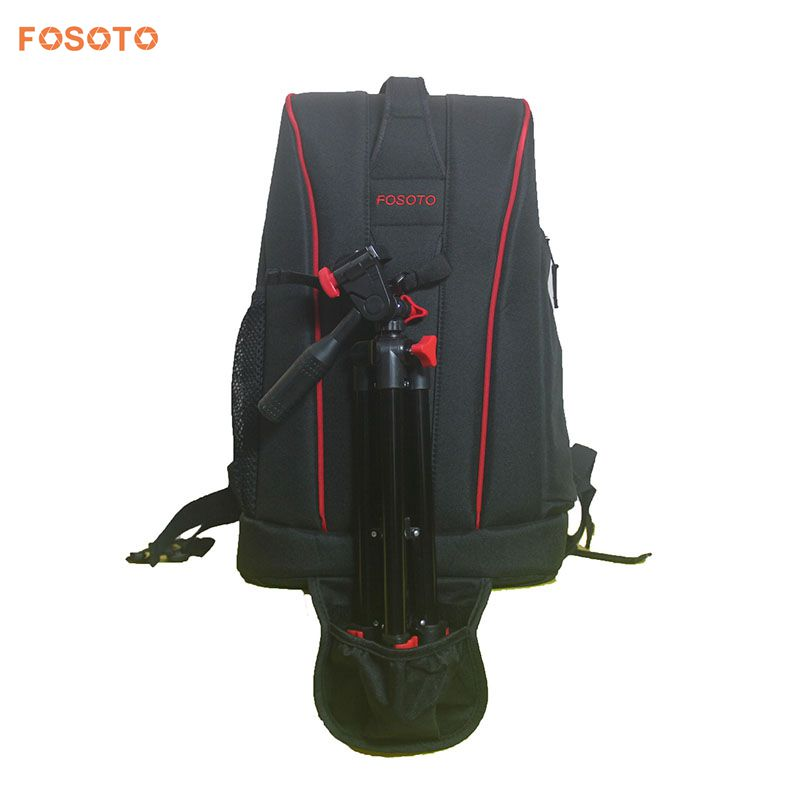FOSOTO Camera Backpack Bag Case with tripod for Canon Nikon Sony DSLR Traveler Lens Camcorder Tablet  nylon bag benro beyond b200 backpack camera bag nylon waterproof dslr camera bag case for canon nikon camera rain cover