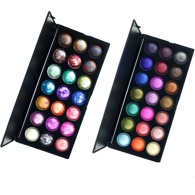 Pretty Makeup Baked Eyeshadow Palette 21 Color Professional Shimmer Eye Shadow Makeup Set Kit Radiant Cosmetic Powder professional cosmetic makeup 15 color eye shadow palette black