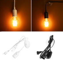 New E27 Lamp Holder Cord Socket Wire Bases Ceiling Light Bulb US Plug Household(China)