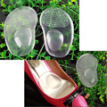 1 Par/2 pcs Suporte Arch Almofada Metade Palmilha de Silicone Gel Frente pés Calçados Pads Reutilizável Almofada de Massagem Cuidados Com Os Pés Ferramenta Sapato almofadas
