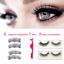 LAIKOU Magnetic Eyelashes 4Pairs+1Eyelash With 3 Magentic Tweezers Multipack Magnetic Lash