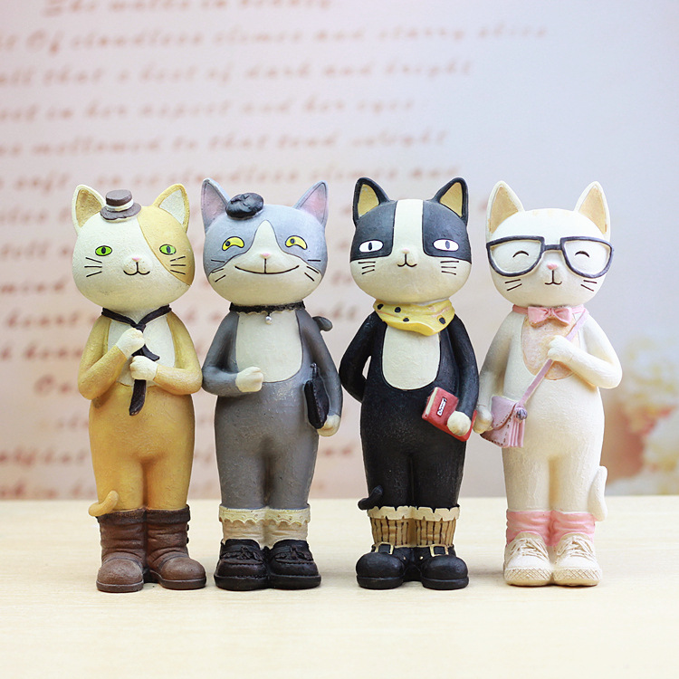 Lovely Collection Model Toy 22cm Action Figure Cat Piggy Bank Money Box Children's Gift