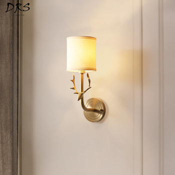 American Deer Horn Wall lights Bedroom Bedside Lamp Living Room Wall Lamp Stairway New Modern Simplicity Wall Candlle Lights