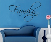 Family is forever home decor creative quote wall decals decorative adesivo de parede removable vinyl wall stickers