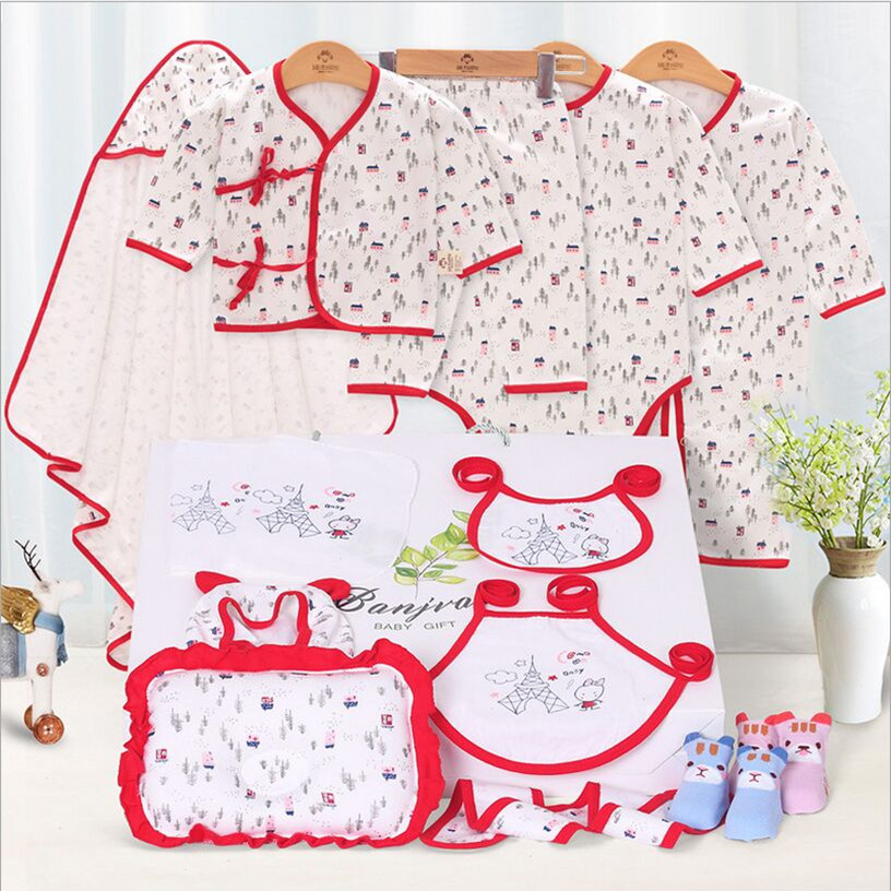100% Cotton Newborn Baby Clothes Set Spring and Summer Character Baby Girl Clothes O-Nec ...