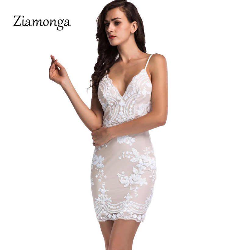 Ziamonga Summer Glitter Party Nightclub Sequin Dress Vintage Womens Sexy  Dresses Golden Floral Sequined V Neck f4fc18562dd0