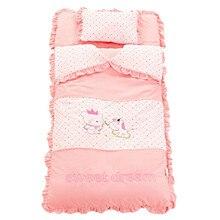 Automne et hiver bébé ensemble de literie nouveau né berceau literie coton épaissir couette enfants enfant sac de couchage pour bébé de 0 4 ans