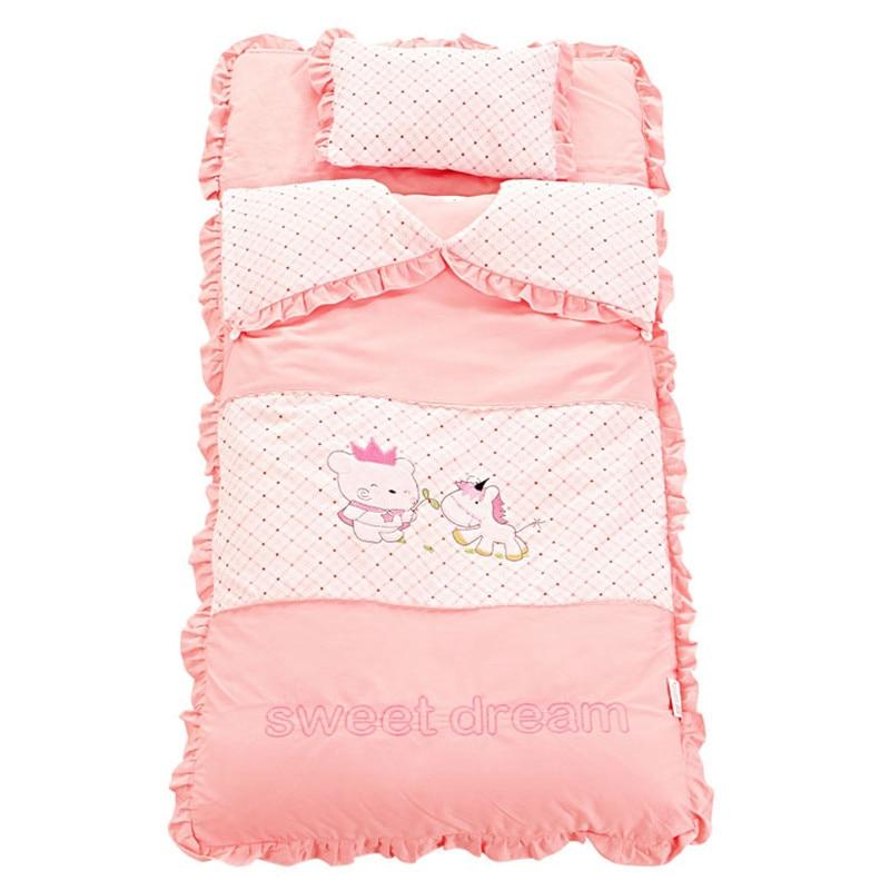 Bébé literie ensemble nouveau-né berceau literie coton automne et hiver épaissir couette bébé enfants enfant sommeil sac