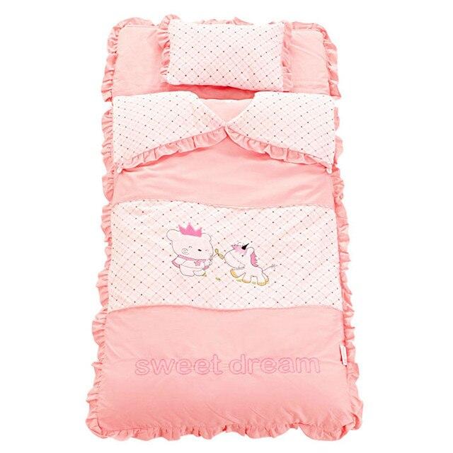 Jesienno zimowy komplet pościeli dziecięcej nowonarodzona pościel do łóżeczka bawełniana zagęścić kołdra dziecięca dziecięca śpiwór dla dziecka w wieku 0 4 lat