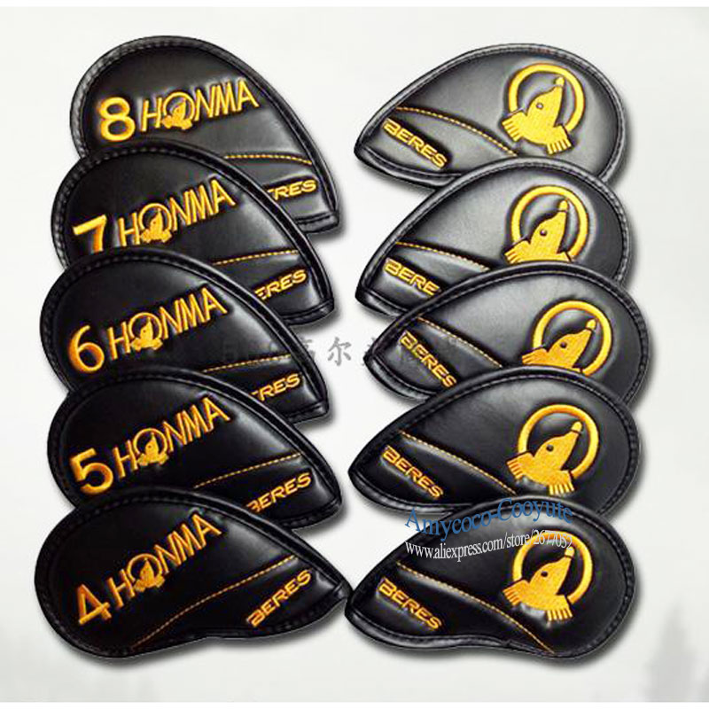 New Mens HONMA Golf irons headcover high quality PU Golf headcover 5 color irons set Golf clubs headcover Free shippingNew Mens HONMA Golf irons headcover high quality PU Golf headcover 5 color irons set Golf clubs headcover Free shipping