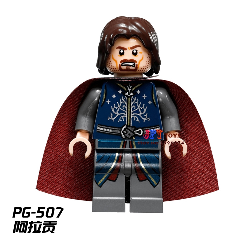 Single Sale star wars superhero Aragorn LOTR movie building blocks model bricks toys for children brinquedos menino