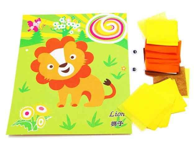 DIY мультфильм ремесла игрушки для детей Войлок бумажное ремесло детский сад материал смешное искусство и ремесло подарок для мальчика девочки GYH