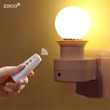 ZINUO 1 W 3 W 5 W 7 W 9 W Lámpara de La Noche de la Novedad Led Inalámbrico Control remoto Regulable Luz de Noche Para Niños Niños lámpara de Mesa de Luz 220 V