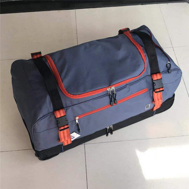 High quality for long tripsLarge volume 30 inch  Oxford rolling luggage bag abroad folding trolley suitcase