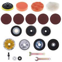 21 pz/set Trapano Elettrico di Conversione Angle Grinder Taglio Vestito con la Conversione Gambo e Taglio Dei Metalli Lame per la Lucidatura