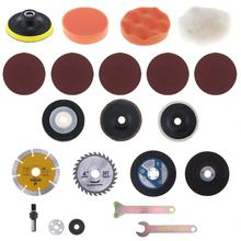 21pcs/set Electric Drill Conversion Angle Grinder Cutting Suit with Conversion Shank and Metal Cutting Blades for Polishing