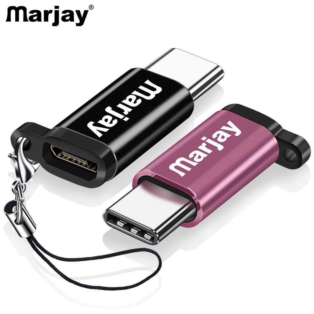 Marjay USB Type C Male To Micro USB Female Adapter USB Type-C Support OTG For Xiaomi 4C /LeTV /Huawei /HTC Oneplus LG Tablet