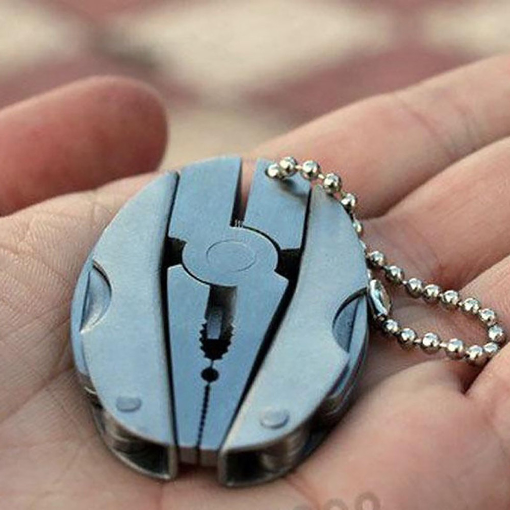 Keychain Screwdriver Folding-Plier Survival-Tools Travel-Kit Stainless-Steel Multifunction title=