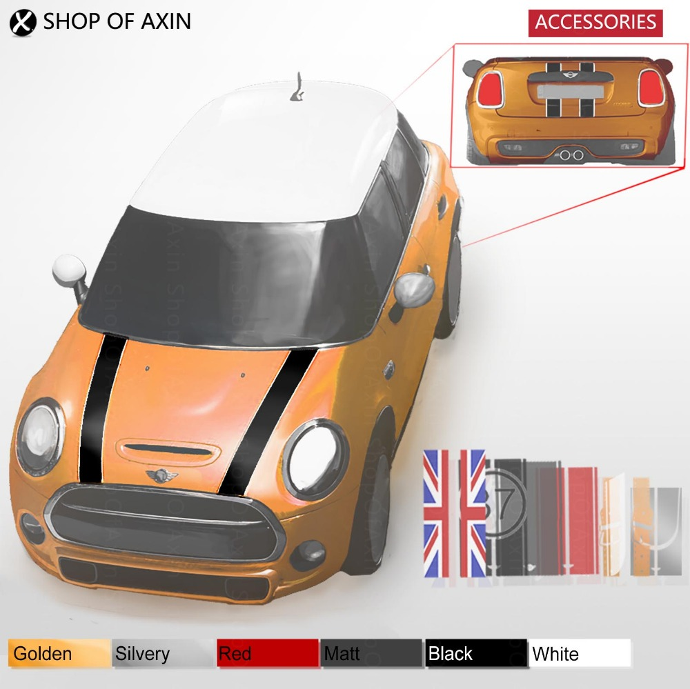 Hood and Rear Luggage Door Decoration Graphics Sticker For Mini Cooper Clubman Countryman Hardtop R55 R56 R60 R61 F54 F55 F56 aliauto car styling side door sticker and decals accessories for mini cooper countryman r50 r52 r53 r58 r56