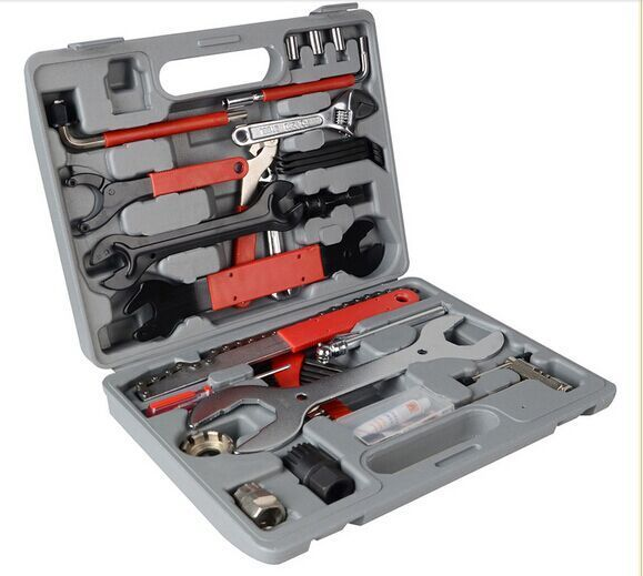 ФОТО 44PCS/ set  Mountain Bike Patchs Bicycle Accessories Maintenance Repair box diagnostic tools Kit Valuables Cycling Chain case