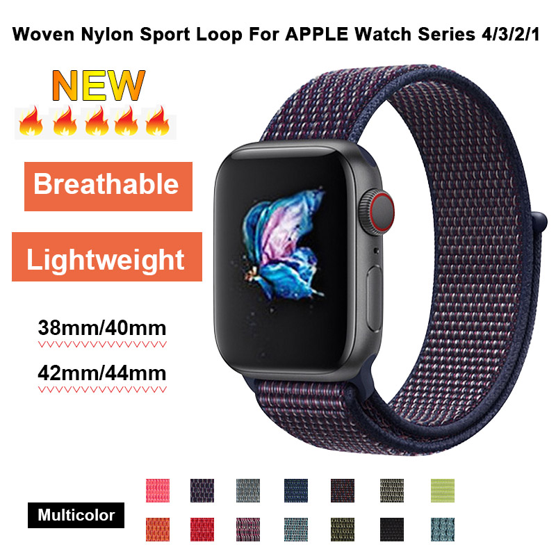 Indigo Sport Loop Band For Apple Watch 40mm 44mm Nylon Wristbands Strap 38mm 42mm For Iwatch 4 Iphone 3