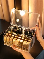 Clear Acrylic Cosmetic Storage Box Lipstick Holder Makeup Organizer Table Makeup Tools Organizer Case