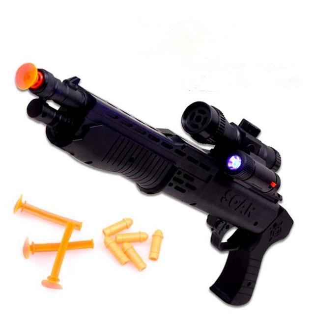 Soft bullet Flashing with Night Light Collimator Toy Guns Classic Toys  children Nerf gun pistol Boys