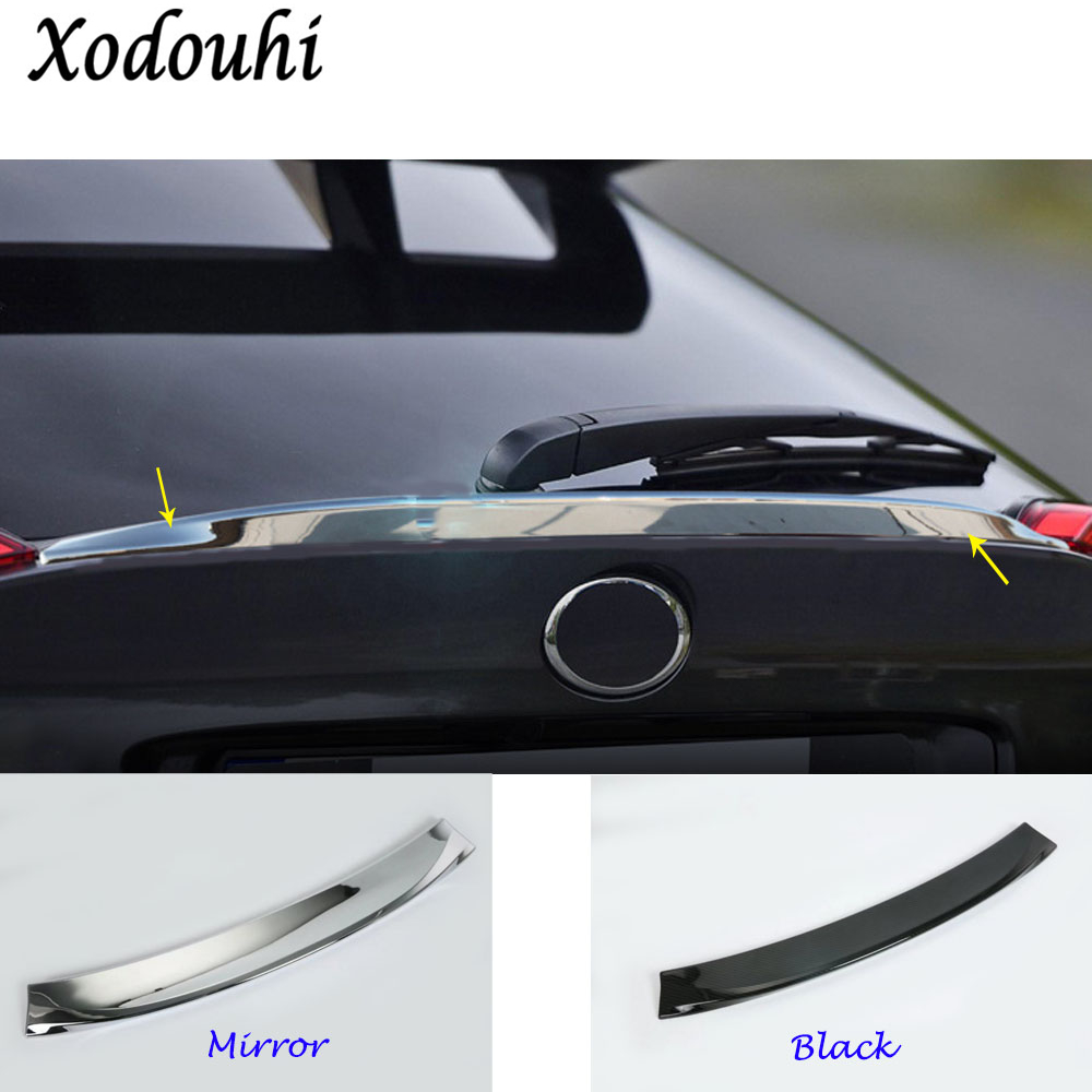For Toyota C-HR CHR 2017 2018 car body ABS chrome Rear tail Spoiler side triangle wing window bezel trim Stick 1pcs free shipping 2pc hexagon pattern abstract geometric body rear tail side graphic vinyl for toyota hilux vigo 2011 decals