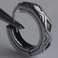 men jewelry cool 316L stainless steel  men/boy's earrings hoop punk