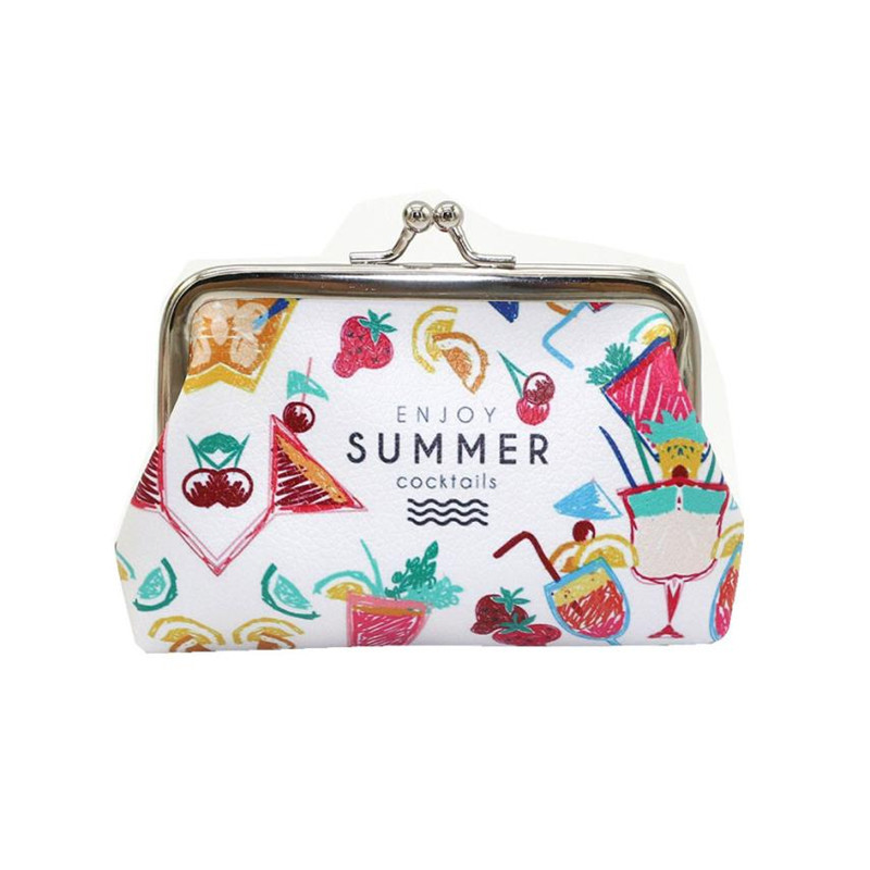 New Popular Womens Coin purse Lady Fresh Fruit Small Wallet Hasp Purse Clutch Bag women purses monederos para mujer