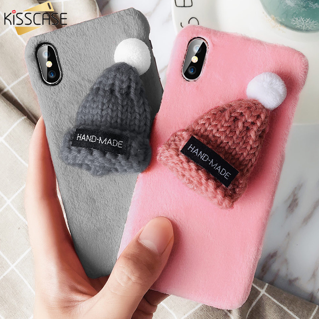 kisscase christmas hat phone case for iphone 8 7 plus xs max xr x cases christmas