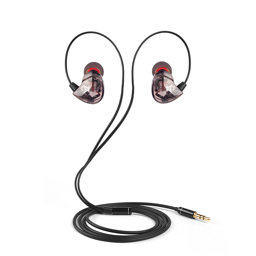 Newest MusicMaker TS1 10mm Dynamic Super Bass HIFI In Ear Earphone In Ear Headset 2016 musicmaker ty2 dual dynamic units earphone hifi fever tonking tky2 in ear earphone easy hybrid headset
