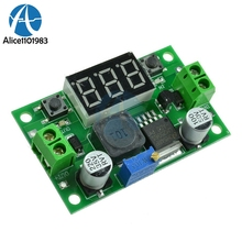 LM2596 Buck Step Down Power Converter Module Board LED Digital Voltmeter Display Adjustable DC-DC 2A Short Circuit Protection