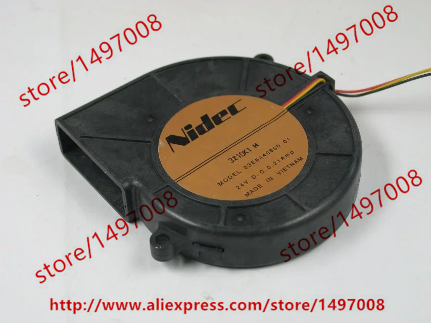 Free Shipping For Nidec 23E6440850 01 DC 24V 0.21A 3-wire 3-pin connector 70mm 75x75x15mm Server Blower Cooling fan free shipping emacro sf7020h12 61as dc 12v 250ma 3 wire 3 pin connector 65mm6 server cooling blower fan